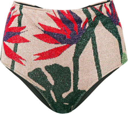 Floral high waisted bikini bottom