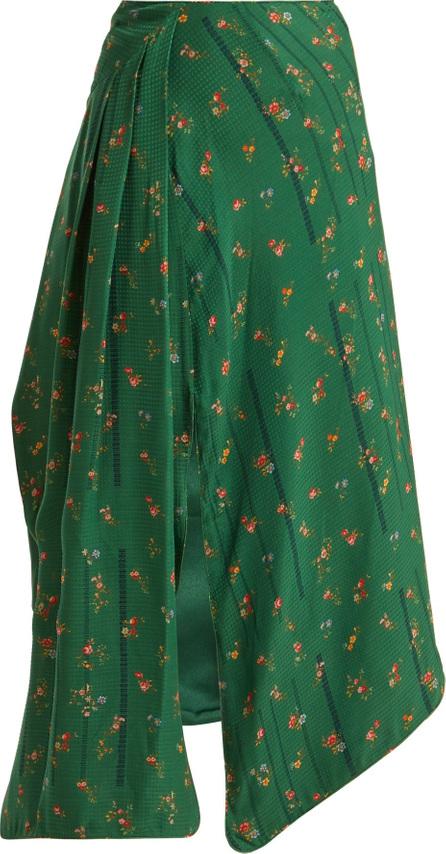 Preen Matilda floral-print silk skirt