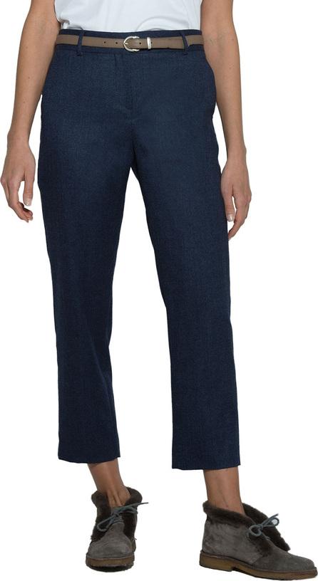 Eleventy Textured Wool Slim-Leg Cropped Pants