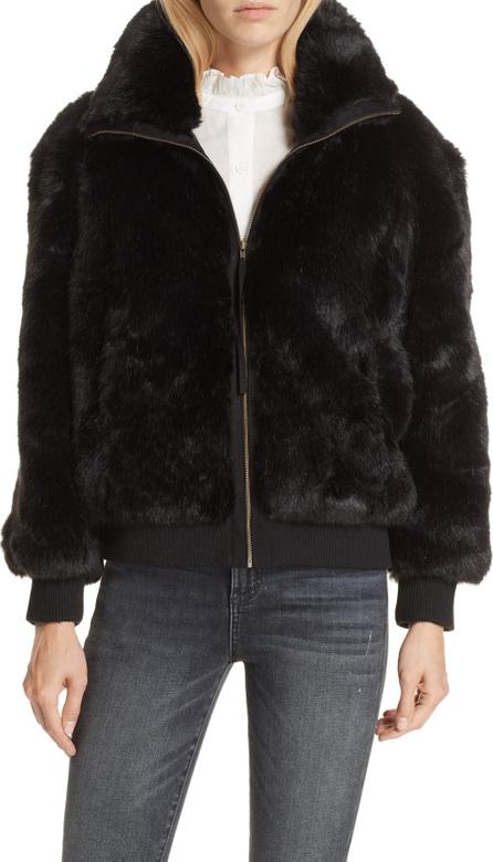 APIECE APART Faux Fur Bomber Jacket