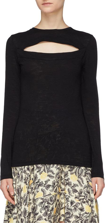 Proenza Schouler Cutout front yoke long sleeve T-shirt