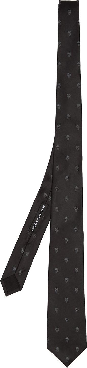 Alexander McQueen Skull-jacquard tie