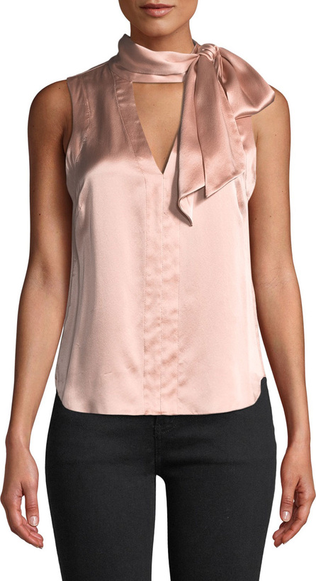 Nanette Lepore Getaway Tie-Neck Silk Top