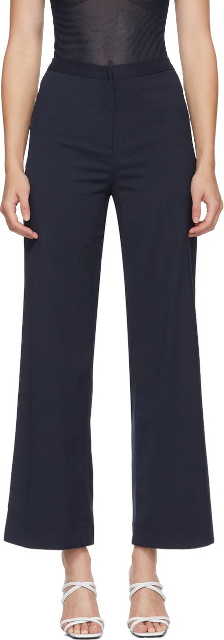 Maryam Nassir Zadeh Navy Twill Jewel Trousers