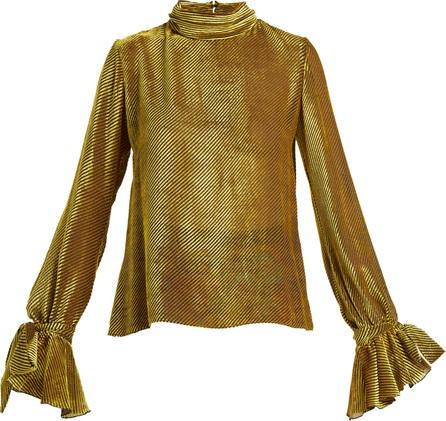 Mary Katrantzou Freda velvet devoré blouse