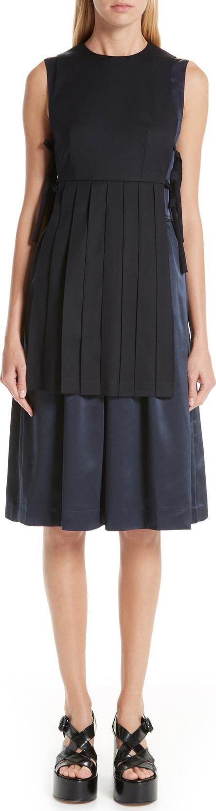 Noir Kei Ninomiya Sleeveless Wool & Satin Dress