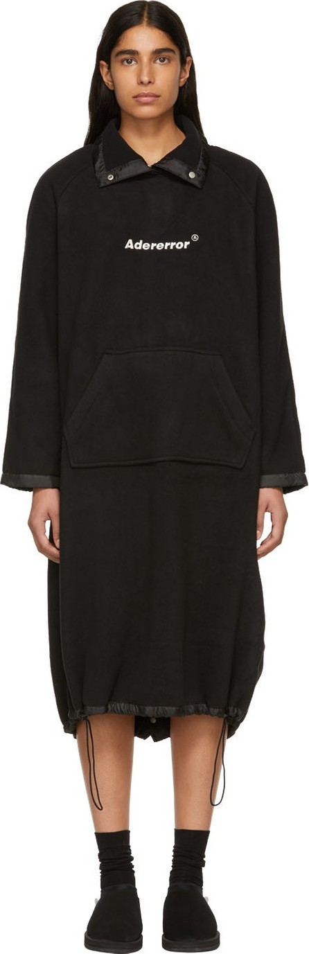 ADER error Black Oversized Cozy One-Piece Dress