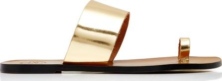 ATP Atelier Astrid Metallic Glossed-Leather Slides
