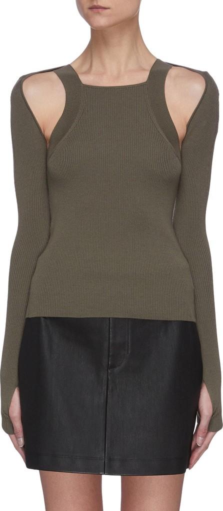 Dion Lee Shoulder cutout rib knit top