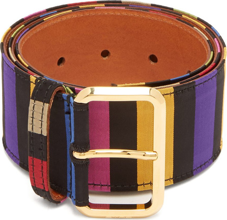 Etro Striped satin belt