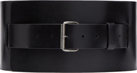 Ann Demeulemeester Black Wide Kenya Belt