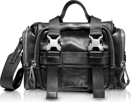 Alexander Wang Black Leather Surplus Duffle Bag