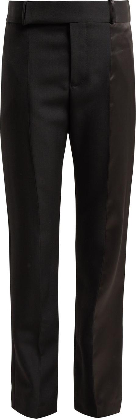 Haider Ackermann Calder high-rise silk-satin-trimmed wool trousers