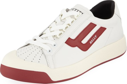 Bally Men's New Competition Retro Low-Top Sneakers, Red/White