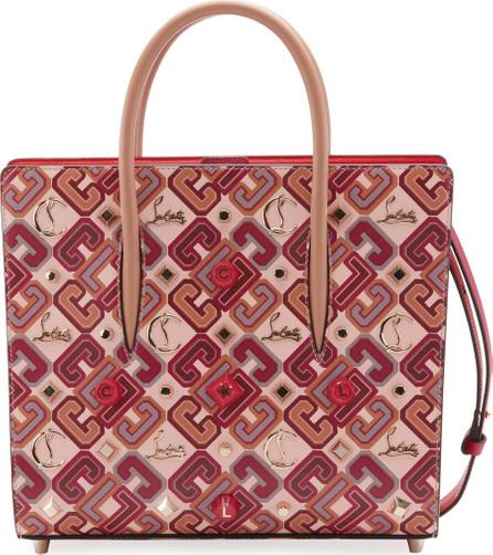 Christian Louboutin Paloma Medium Calf Paris LoubiX Patent Tote Bag