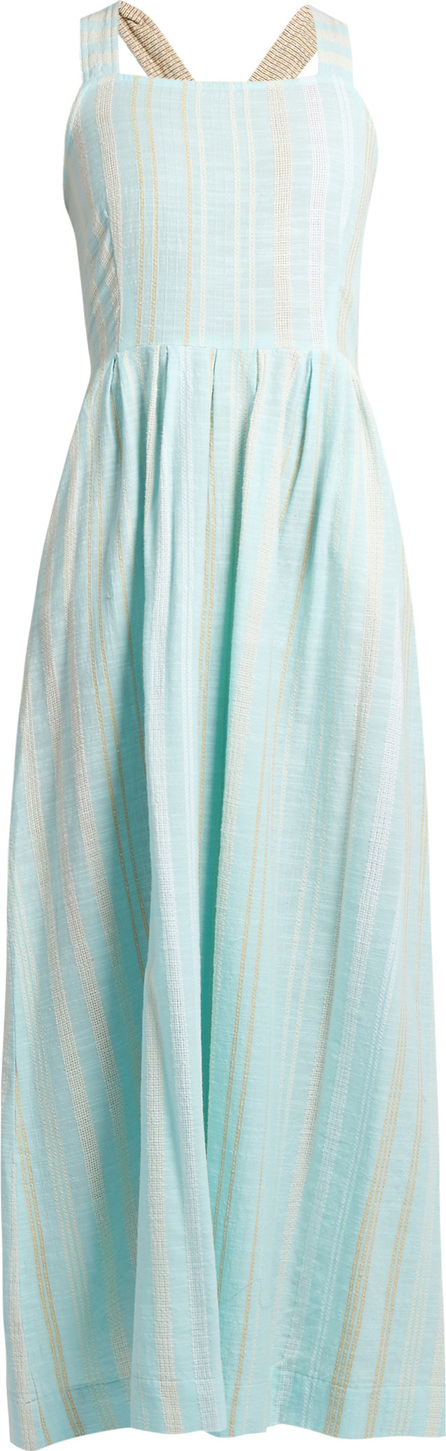 ace&jig Pinafore woven-cotton maxi dress