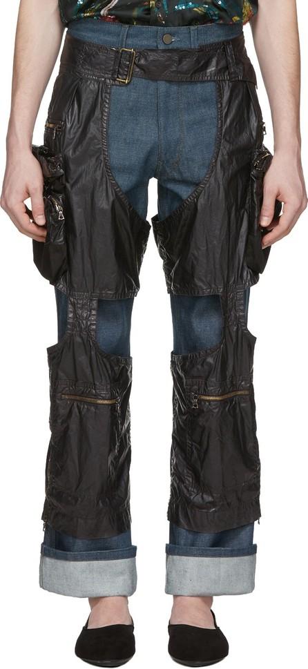 Dries Van Noten Black Chaps Trousers