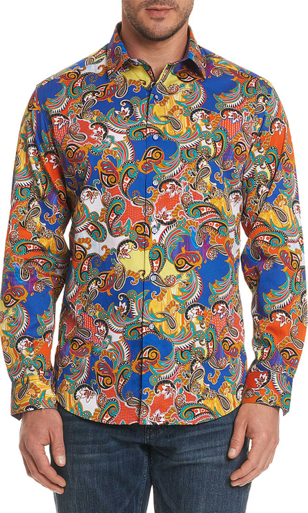 Robert Graham Men's Acosta Classic Fit Graphic Paisley Sport Shirt