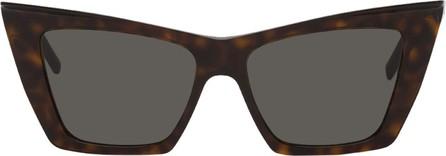 Saint Laurent Tortoiseshell Angular SL 372 Sunglasses