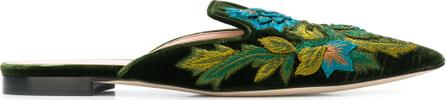 Alberta Ferretti Embroidered pointed mules
