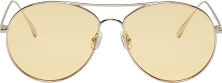 Gentle Monster Silver & Yellow Ranny Ring Sunglasses