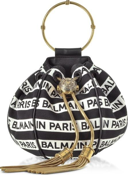 Balmain Balmain Signature Print Mini B-Bucket Bag