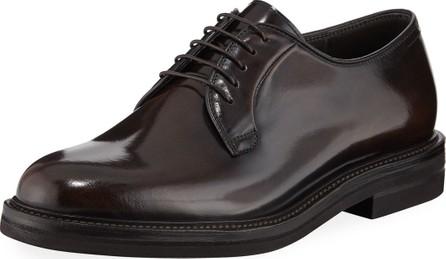 Brunello Cucinelli Men's Patent Leather Oxford Shoes