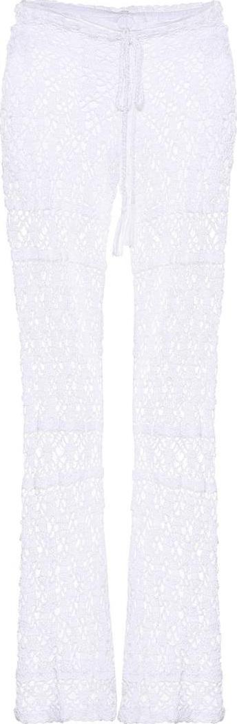 Anna Kosturova Bianca crocheted cotton trousers