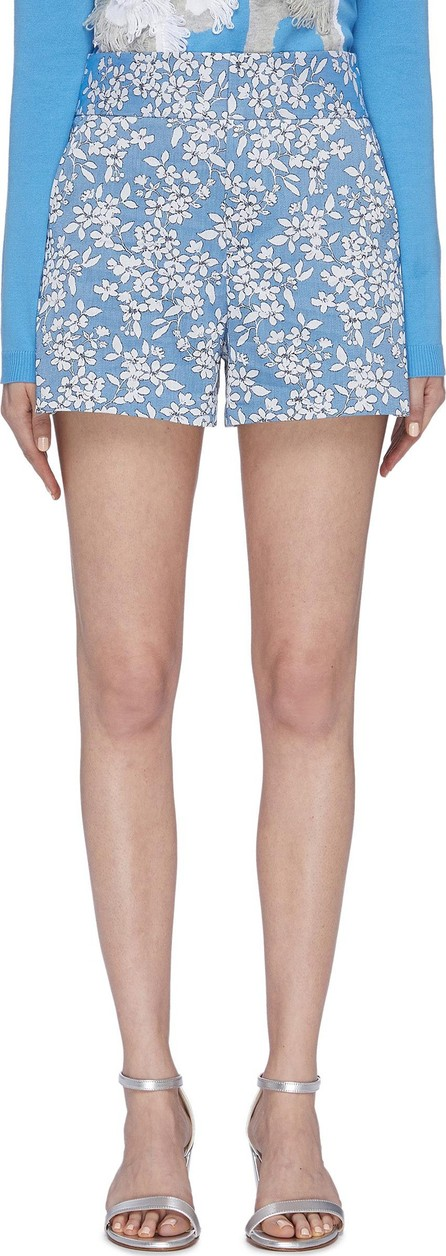 Alice + Olivia 'Cady' floral jacquard shorts