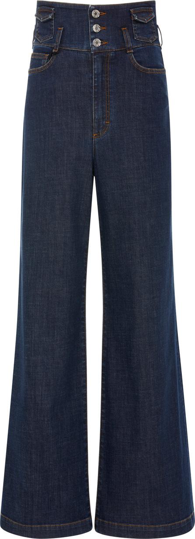Dolce & Gabbana Appliquéd High-Rise Wide-Leg Jeans