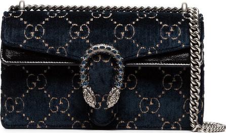Gucci Dionysus leather-trimmed embossed velvet bag