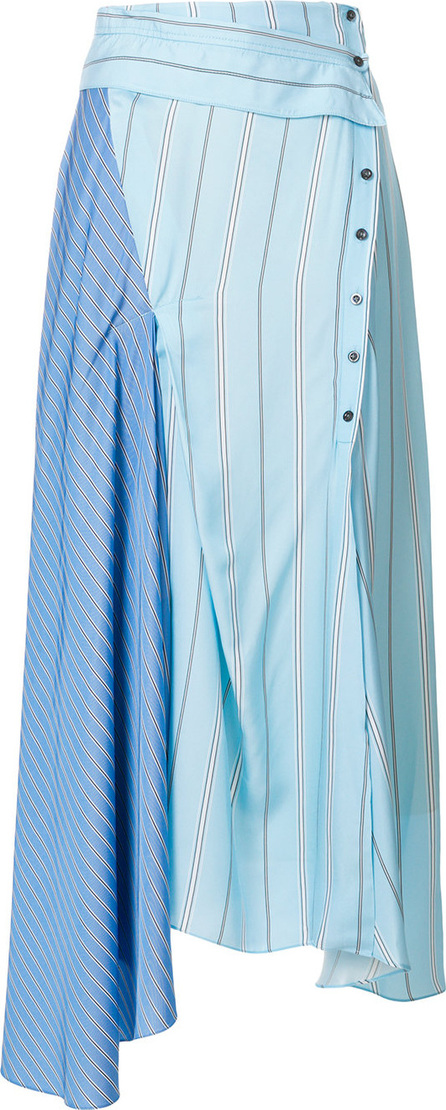 3.1 Phillip Lim Contrast stripe flared skirt