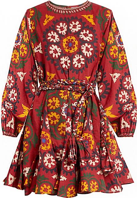 Rhode Resort Ella Suzani-print cotton dress