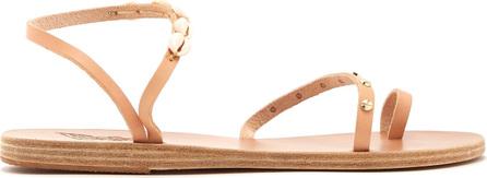 Ancient Greek Sandals Alpi shell-embellished leather sandals
