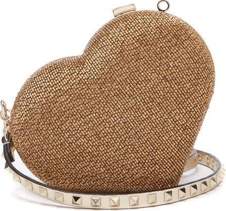 Valentino Carry Secrets bead-embellished heart clutch