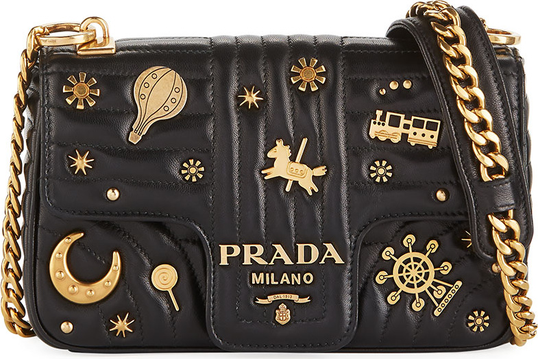 c844dd2cc3f2 best price prada small embellished diagramme shoulder bag with chain strap  b727b 3342d