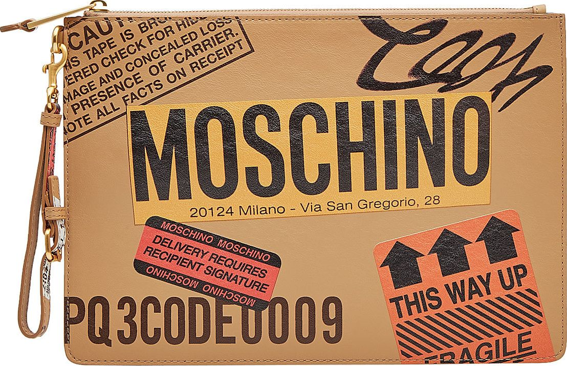 Moschino - Printed Leather Clutch