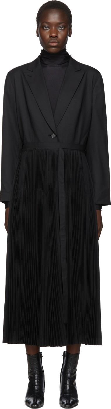 Chika Kisada Black Pleated Coat