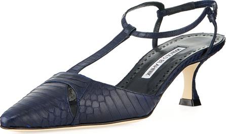 9e1f2ab87bf23 Manolo Blahnik Taurus Snakeskin 50mm Sandal