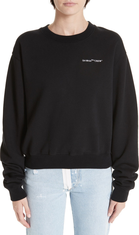 Off White Quotes Casual Crewneck Sweatshirt