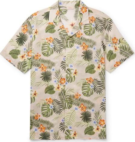 Altea Camp-Collar Printed Cotton Shirt