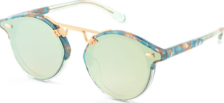 KREWE STL II Round Sunglasses w/ Nylon Overlay Lenses