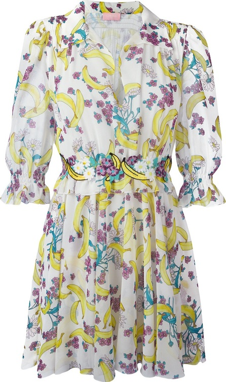GIAMBA banana print mini dress