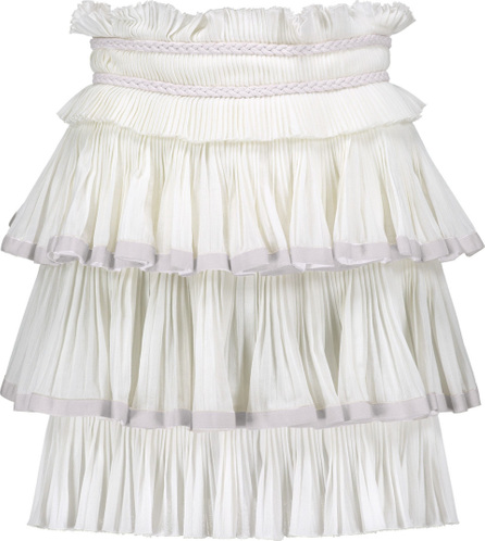 Isabel Marant Goya tiered woven cotton mini skirt