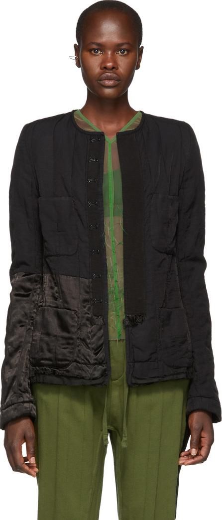 Haider Ackermann Black Quilted Contrast Jacket