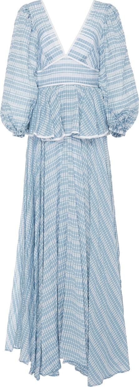 Staud Panera Shirred Peplum Dress
