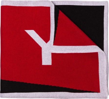 Givenchy Intarsia knit logo scarf