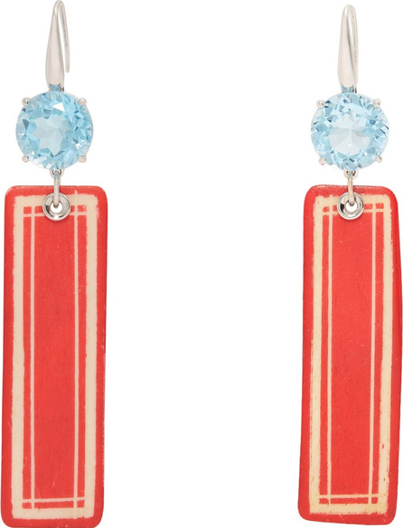 Francesca Villa Topaz & white-gold Easy Living earrings