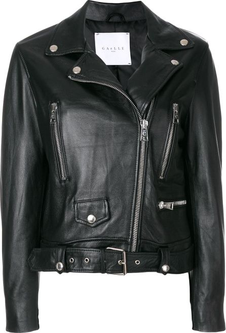 Gaelle Bonheur cropped bike jacket