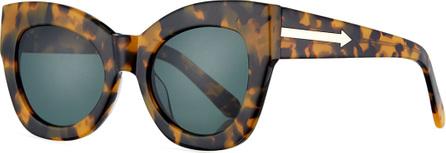 Karen Walker Northern Lights Cat-Eye Sunglasses, Brown